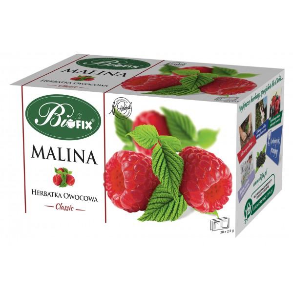 Bi FIX Classic MALINA Herbatka owocowa ekspresowa 20 x 2,5 g