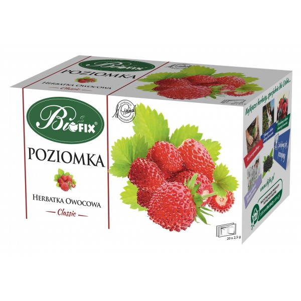 Bi FIX Classic POZIOMKA Herbatka owocowa ekspresowa 20 x 2,5 g