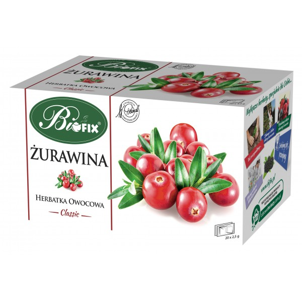 Bi FIX Classic ŻURAWINA Herbatka owocowa ekspresowa 20 x 2,5 g