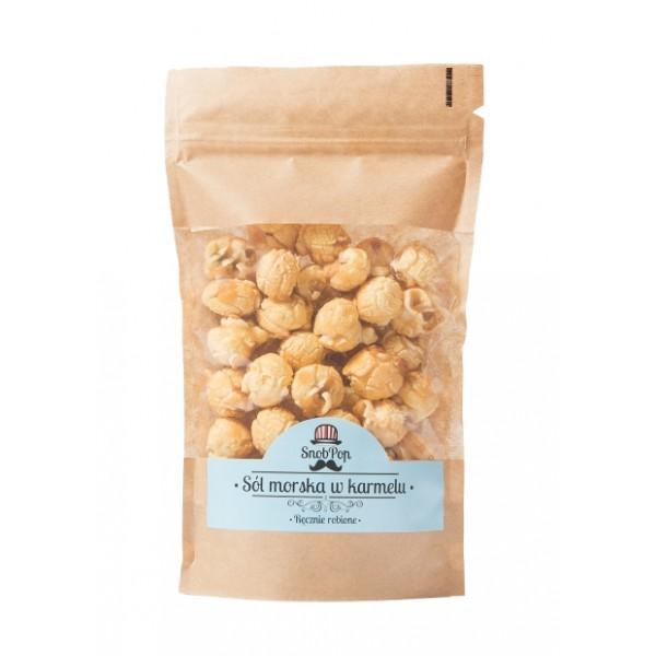 SnobPop popcorn Sól Morska w karmelu 100g