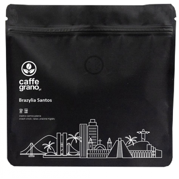 Caffe Grano Kawa Brazylia Santos CIEMNA 250g