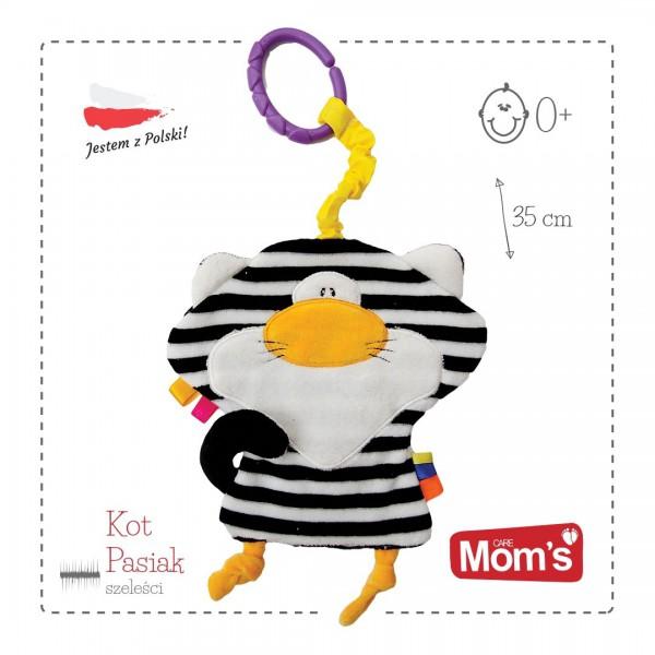 Mom's Care Kot biało-czarny (szeleścik)