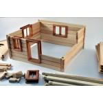 TimberFan Domek 2 duże klocki drewniane