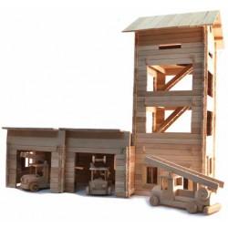 TimberFan Remiza duża z wieżą strażacką małe klocki