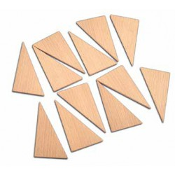 TimberFan Trójkąty układanka z litego drewna