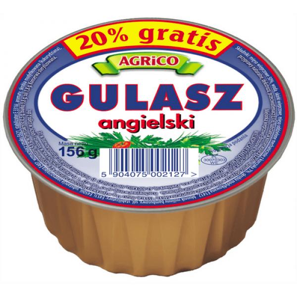 Agrico GULASZ ANGIELSKI 156g 36 sztuk