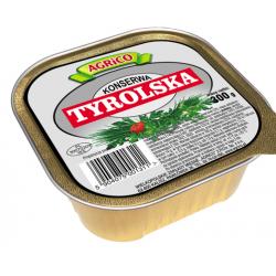 Agrico KWADRATOWA KONSERWA TYROLSKA 300g 30 sztuk