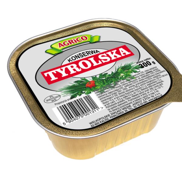 Agrico KONSERWA TYROLSKA KWADRAT 300g 6 sztuk