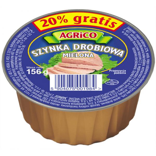 Agrico SZYNKA DROBIOWA 156g 12 sztuk
