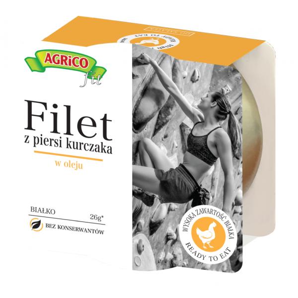 Agrico FILET Z KURCZAKA W OLEJU 160g 18 sztuk