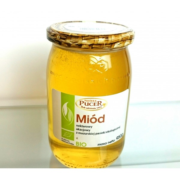 Apiary Pucer Honey BIO organic acacia 950g 1 pc.