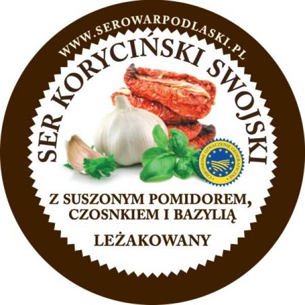 Ser koryciński z suszonym pomidorem, czosnkiem i bazylią 1kg