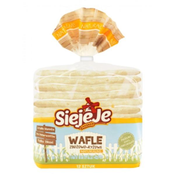 Siejeje Wafle zbożowo-ryżowe SIEJEJE 62g 12 szt.
