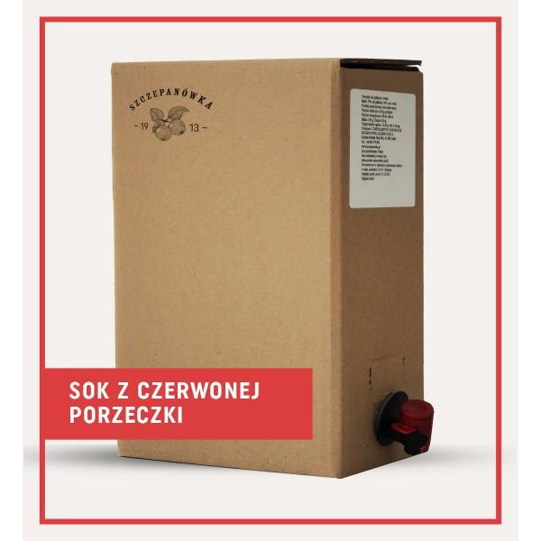 Szczepanówka Sok z czerwonej porzeczki 5 L
