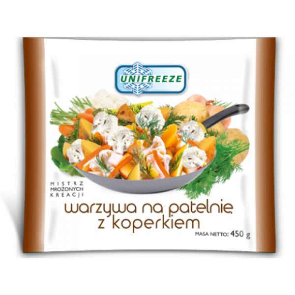 Unifreeze Warzywa na patelnię z koperkiem mrożone 12 szt.